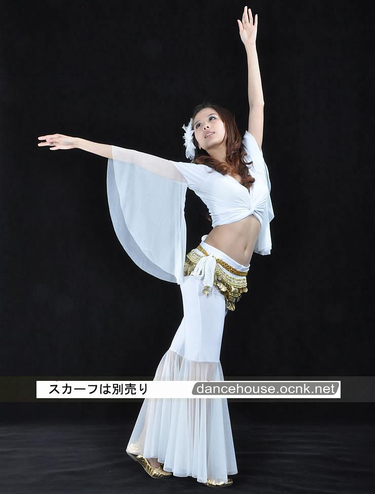 ベリーダンスパンツホワイト